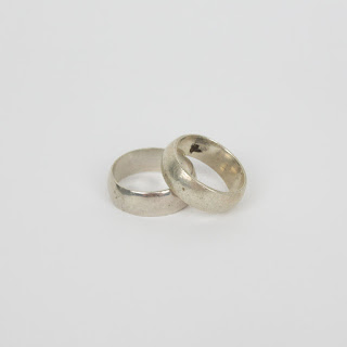 Sterling Silver Ring Bands Set 2