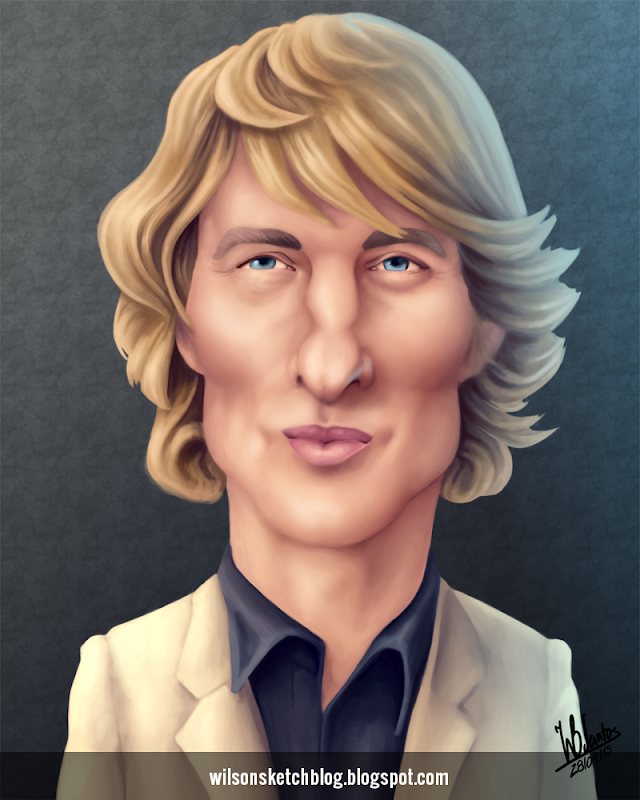 Caricature of Owen Wilson.