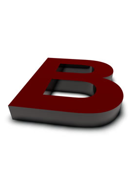 lettre 3D rouge de Chine - B - images libres de droit