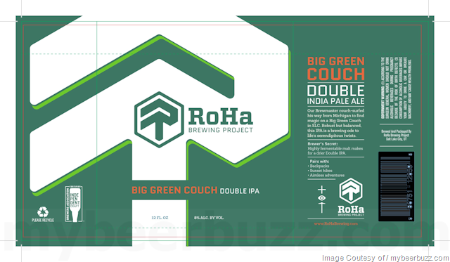 roha brewing big green couch
