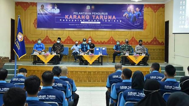 Pengurus Karang Taruna Aceh Tamiang Periode 2020-2025 Resmi Dilantik