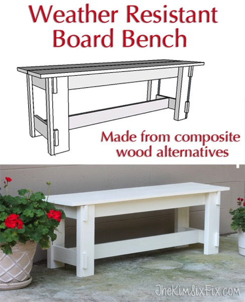 Weather resistant board bench