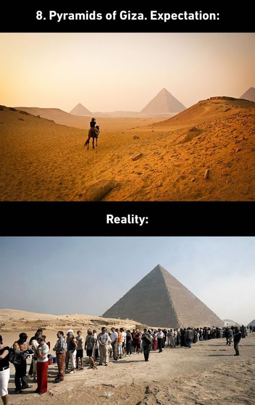 Pyramids of GIZA Expectations vs. Reality