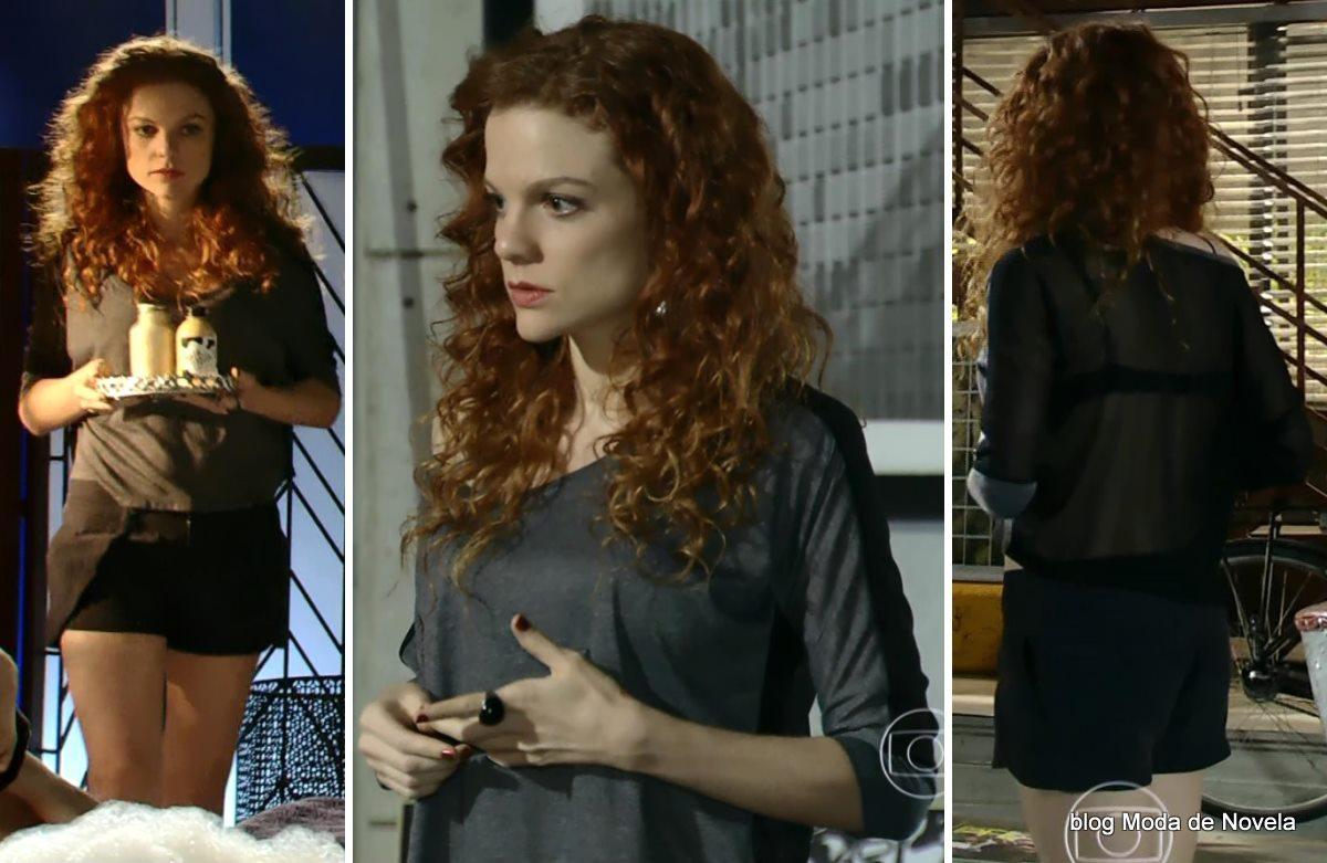 moda da novela Em Família - look da Vanessa dia 25 de abril