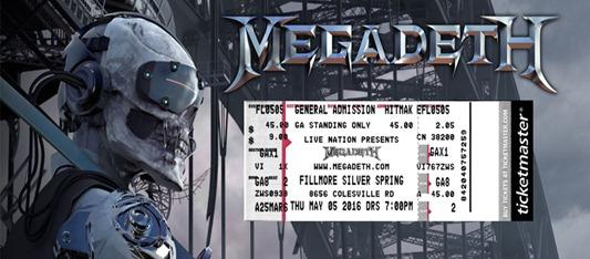 Megadeth Dystopia wtix
