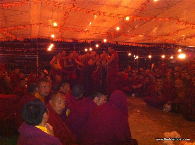 Massive religious gathering and enthronement of Dalai Lama's portrait in Lithang, Tibet. - l49.JPG
