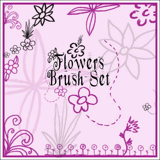 Flowers Brush Set by circle–of–fire