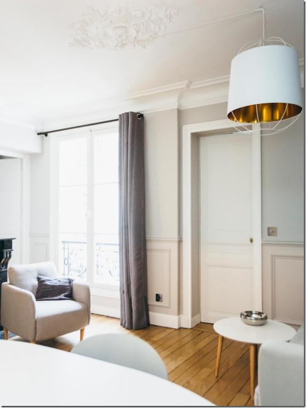 Piccoli spazi interni parigini retr chic in 52 mq - Scale interne piccoli spazi ...