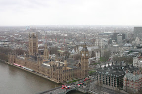 Parliament and Westminster Abbey, from the London Eye