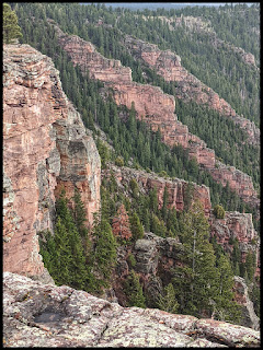 Cliffs on the Side of Red Canyon