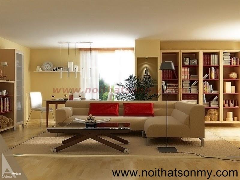 Mẫu thiết kế nội thất phòng khách 329