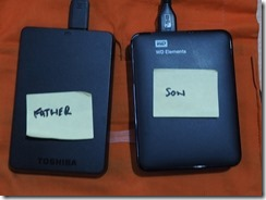 The Backup Twins, The USB Harddrive I use to keep my ew and working files backedup