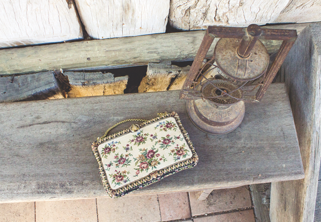 Vintage tapestry purse | Lavender & Twill