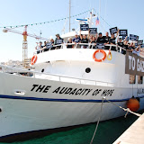 Inauguration of the Audacity of Hope, US Boat to Gaza