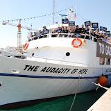Inauguration of the Audacity of Hope, US Boat to Gaza
