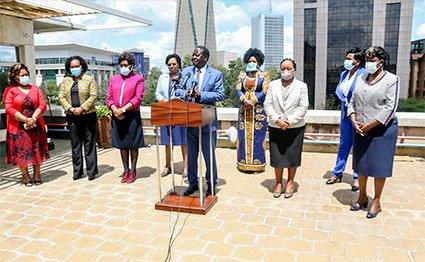 Videos of Raila Odinga at Capitol hill office