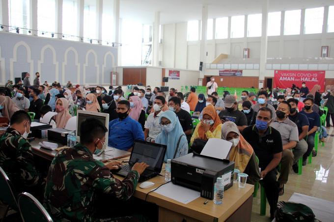 Vaksinasi Massal Di Banda Aceh Convention Hall Dimulai Lagi Hari Ini