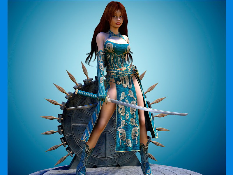 Sword And Shield Fantasy Girl, Warriors