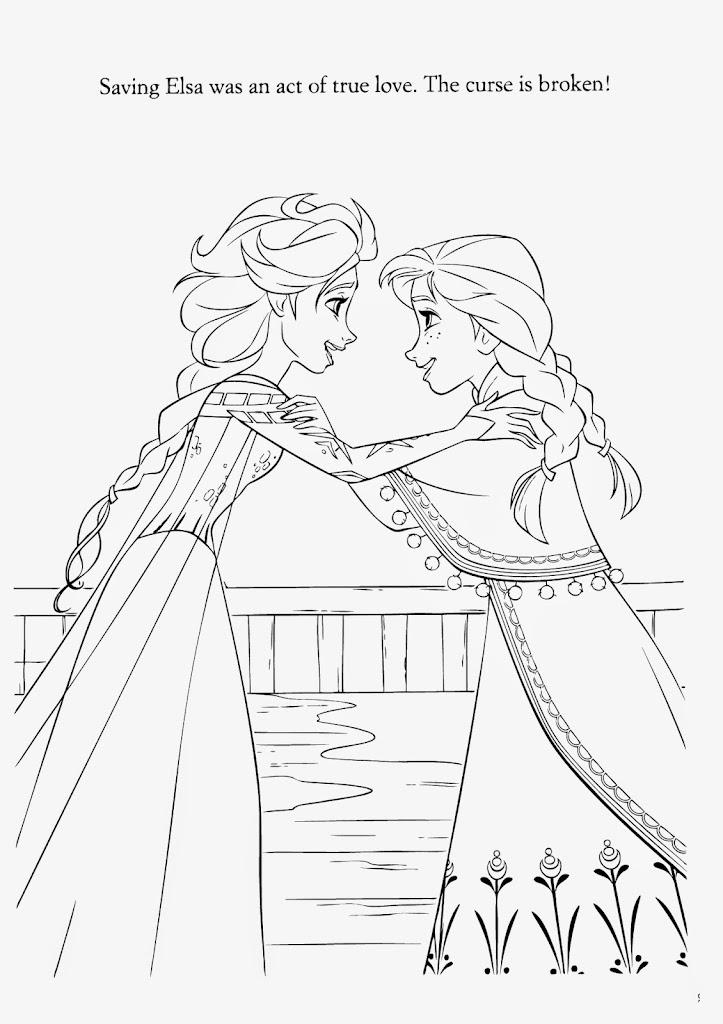 HD Elsa Castle Frozen Coloring