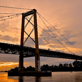 Barito Bridge Indonesia by Raja Lazuardi - City,  Street & Park  Skylines