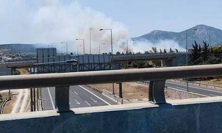 Αττική : Φωτιά στο Κορωπί κοντά στον προαστιακό