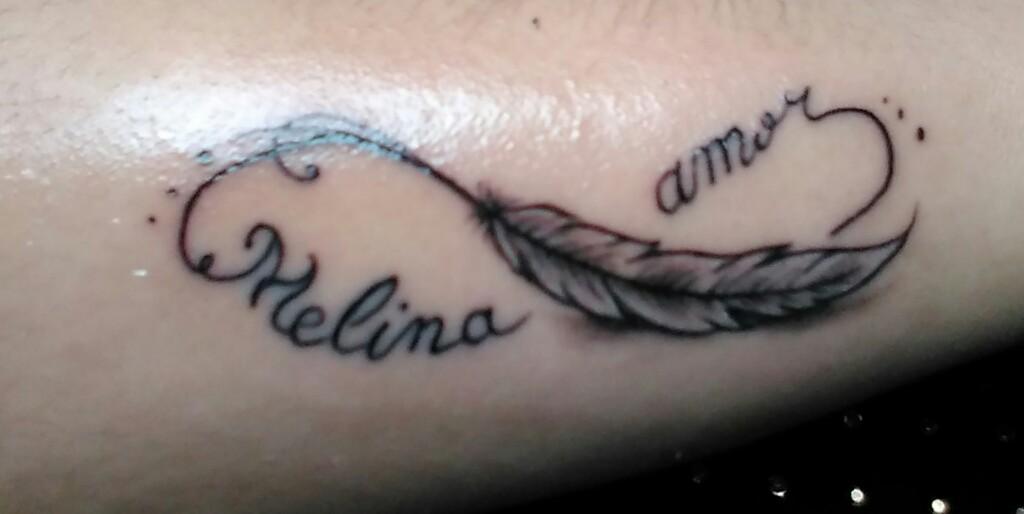 Mel Aquarella Por Pam Souza Tatuagem Nome Dos Filhos