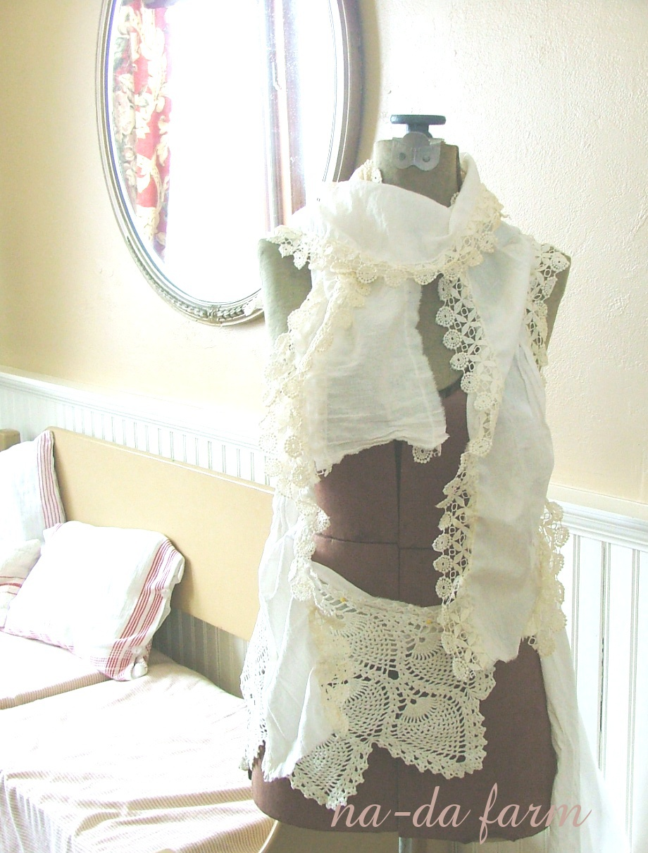 lace trim scarves...