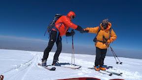 A 10m du sommet!