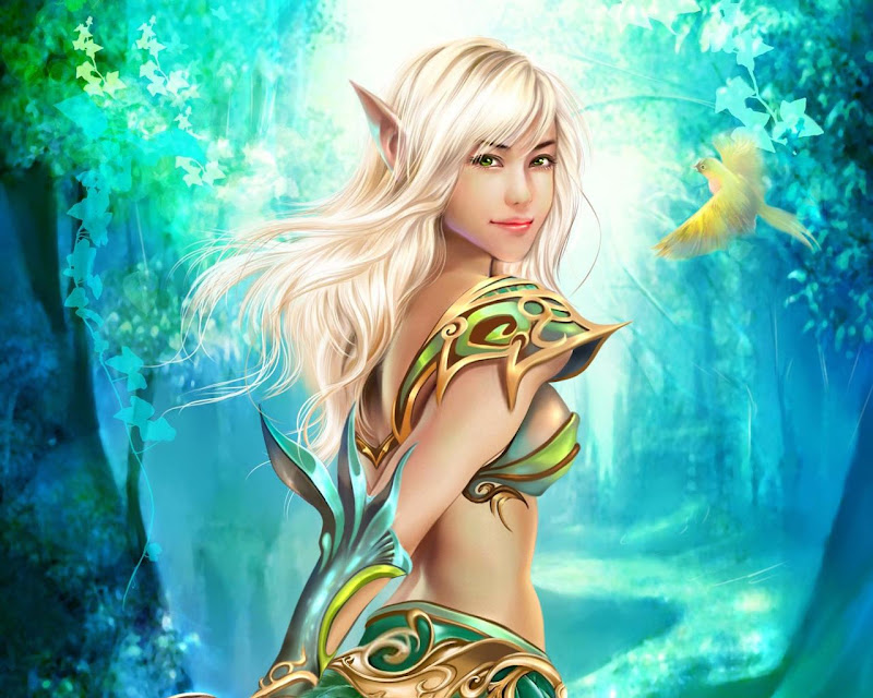 Elven Girl In Forest, Elven Girls