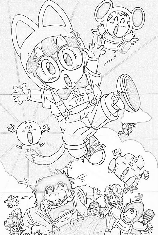 Doctor slump coloring pages