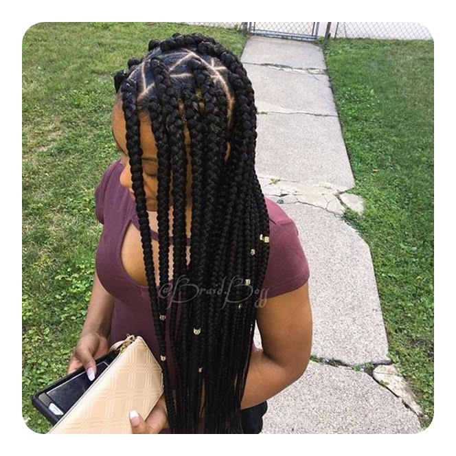 2019 Box Braids Hairstyles For Black Women 2