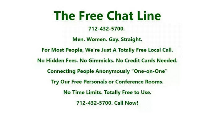 Totally free local chat lines