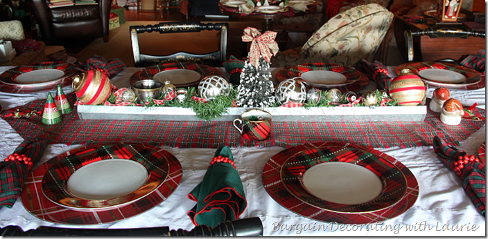 Tablescape for Christmas Eve