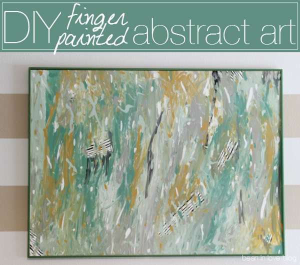 diy finger painted abstract art