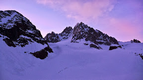 Lever du jour en haute montagne, Chardonnet