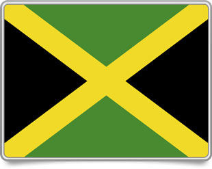 Jamaican framed flag icons with box shadow