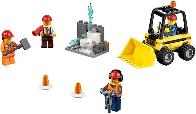 Bộ xếp hình Lego City 60072 Đội Phá dỡ Công trường Demolition Starter Set
