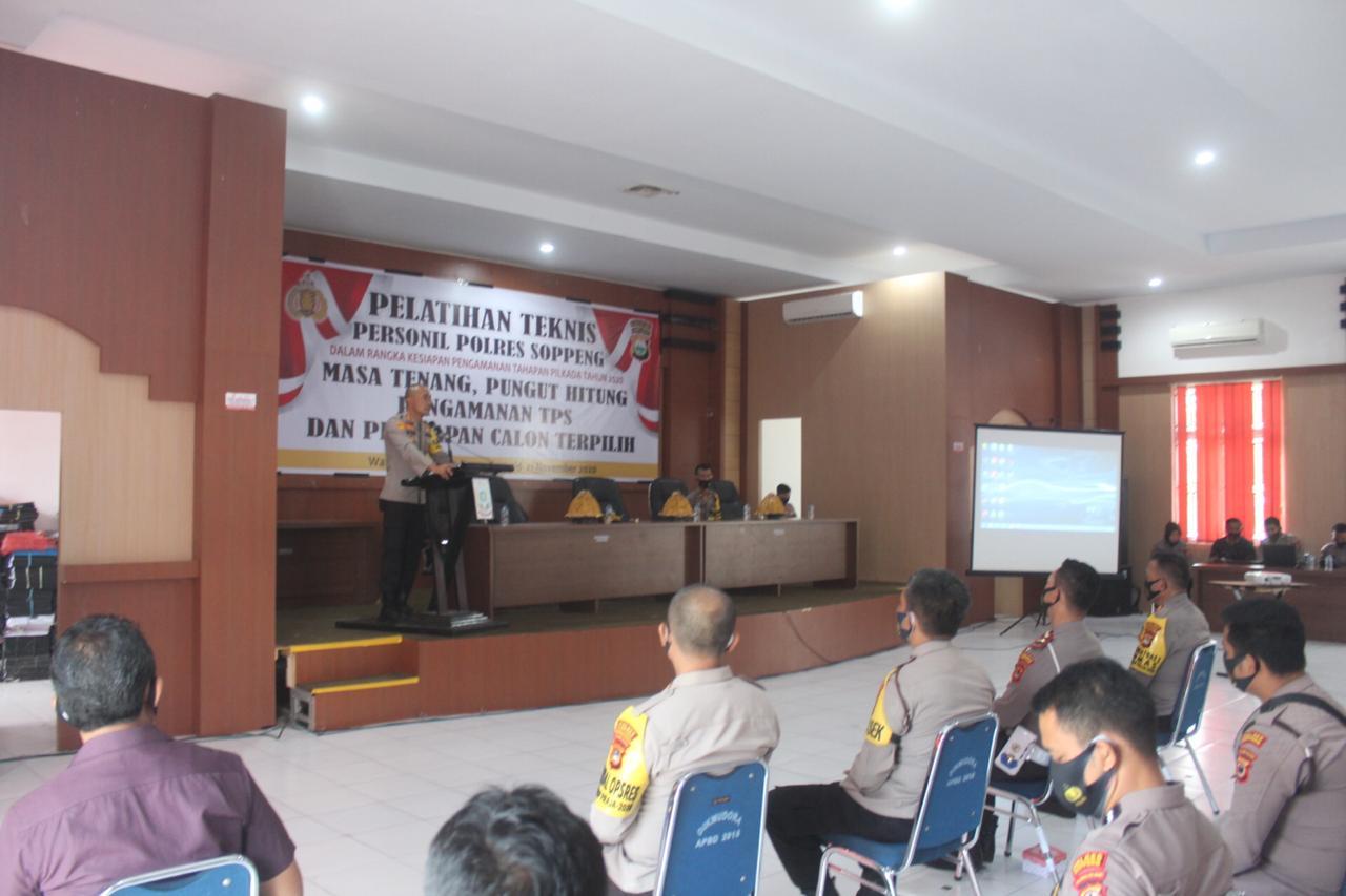 Polres Soppeng Gelar Pelatihan Teknis Pengamanan Pilkada