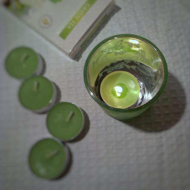 bispol, recenzja świec bispol, recenzja podgrzewaczy, green tea, świece o zapachu zielonej herbaty