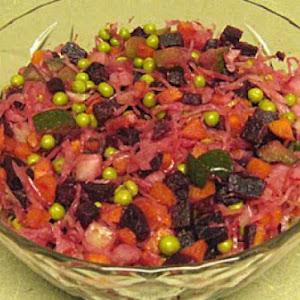 Vinegret - Winter Beet and Sauerkraut Salad