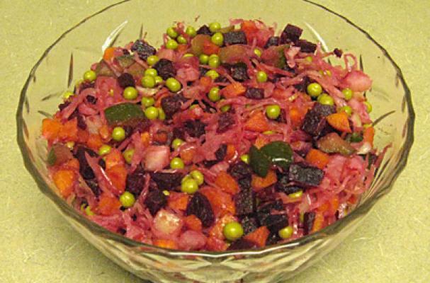Vinegret - Winter Beet and Sauerkraut Salad Recipe