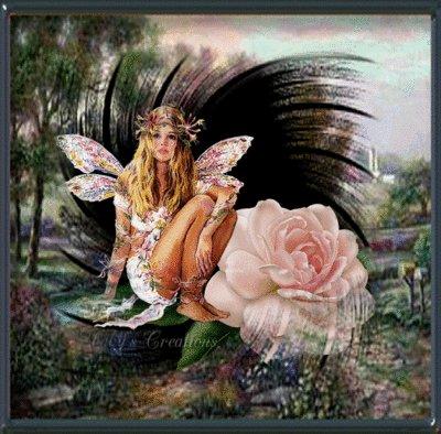 Fairy And Rose Flower, Fairies Girls