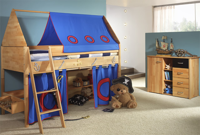 taube m bel hochbett ritter h he 154 182 mit dach buche massiv wei ebay. Black Bedroom Furniture Sets. Home Design Ideas