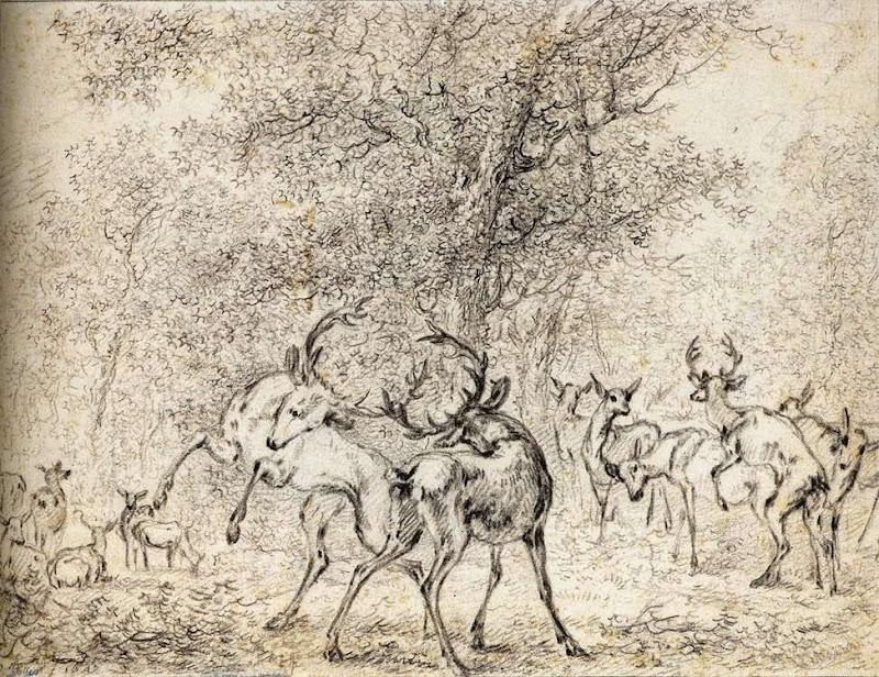 Paulus Potter - Deer in the Wood