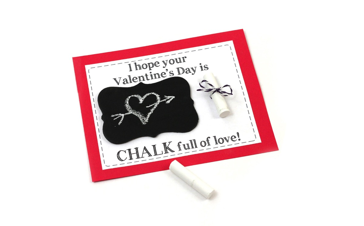Chalk and chalkboard printable valentine