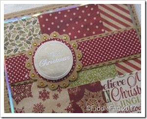 Patchwork Christmas Card 1