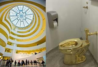 New York: Des toilettes publiques en or au musée Guggenheim.