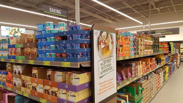 photo of the baking aisle
