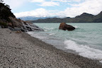 Beach & Waves at Lago Nordenskjold (Torres Del Paine, Chile)