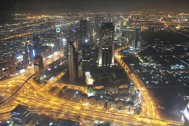 View over Dubai from the Burj Khalifa